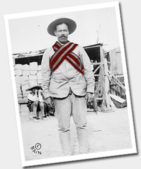 Pancho Villa wearing our reflective scarf